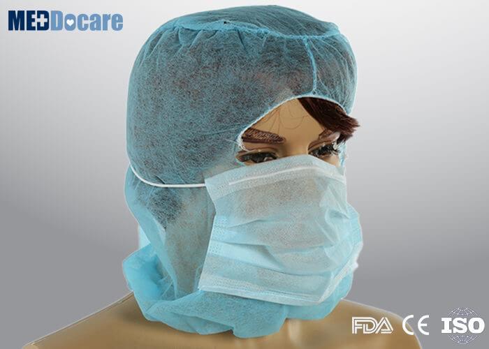 Full Face Balaclava Mask 2 Ply Disposable Cap Single Head
