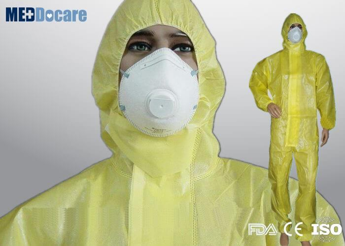 PPE yellow jumpsuit