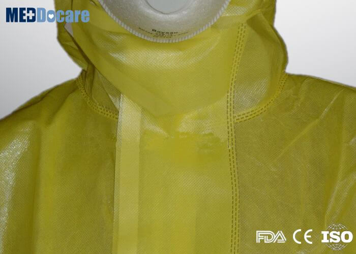 nonwoven yellow safety jumpsuit