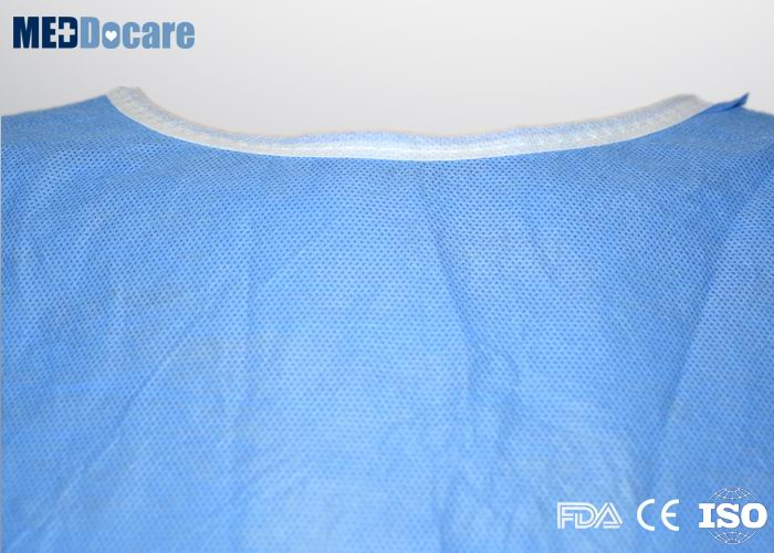 Disposable medical exam gowns velcro closure neck back and waist ...