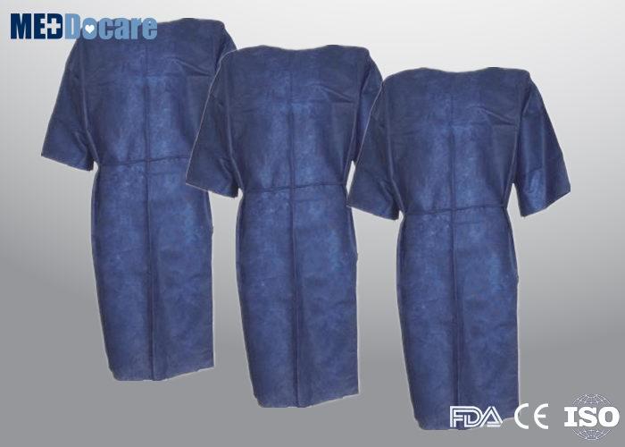 11b84fa5e Batas de hospital desechables para el paciente en venta cuello azul oscuro  con corbata en